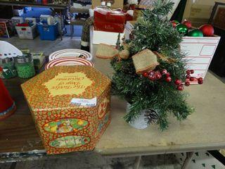 Christmas Bulbs and Desk Tree
