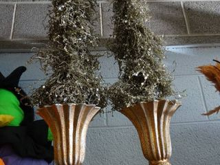 2 Silvery Trees in Vases