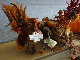 Fall Turkey and Cornucopia Centerpieces