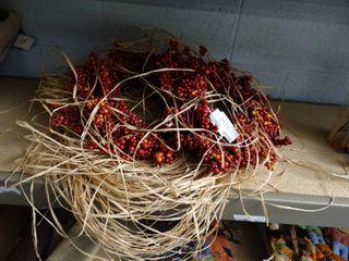 Fall Wreaths and Raffia