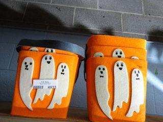 lot of 5 Felt Halloween Baskets