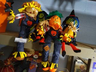 lot of Fall Scarecrows
