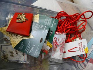 lot of Christmas Jewelry  Earings  lapel Pins and more