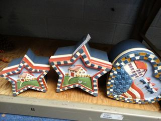 4th Of July Decor Storage or Gift Boxes