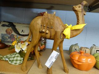 Hand Carved Wooden Camel  Very Neat