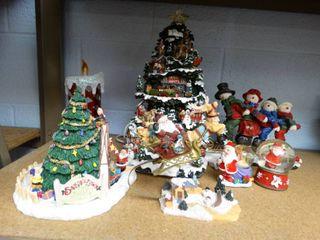 Christmas Decor  Mostly Ceramic  Some light up
