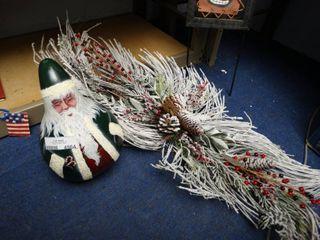 Christmas Decor with Very Pretty Swag