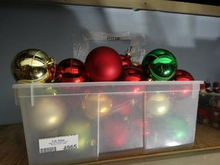 Tote of Christmas Ornaments