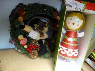 Christmas Tree Topper and Wreath