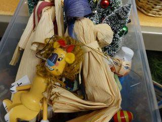 Tote of Christmas Decor