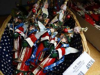 lot of Metal Christmas Ornaments