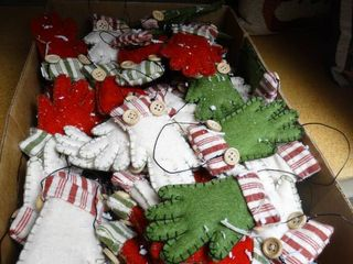 lot of Mitten Ornaments