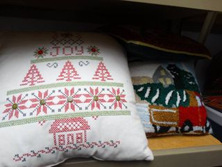lot of Christmas Pillows