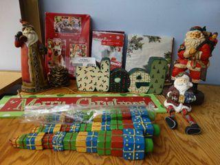 lot Christmas Cards and Decor
