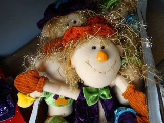 lot of Stuffed Scarecrows