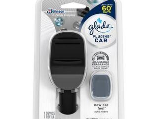 Glade PlugIns Car Air Freshener Starter Kit  New Car Feel  0 11 fl oz