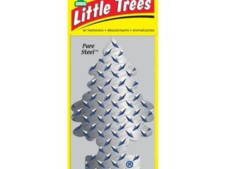 lITTlE TREES air freshener Pure Steel 3 Pack