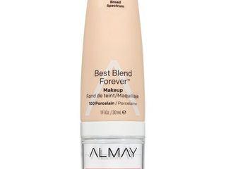 Almay My Best Blend Forever Makeup 100 Porcelain   1 fl oz