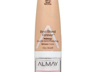 Almay My Best Blend Forever Makeup   Moisturizer 110 Ivory   1 fl oz