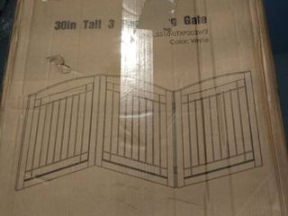 Spirich Freestanding Wire Pet Gate For Dogs  60 Inches Extra Wide  30 Inches Tal