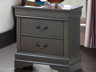 Furniture of America louis Philippe III Contemporary Style Night Stand Gray