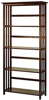 Casual Home Mission Style 5 Shelf Bookcase  Walnut