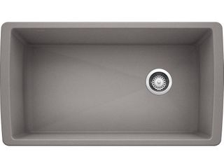 BlANCO  Metallic Gray 441770 DIAMOND SIlGRANIT Super Single Undermount Kitchen Sink  33 5  X 18 5