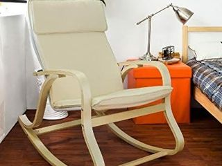 Haotian Comfortable Relax Rocking Chair  lounge Chair Relax Chair with Cotton Fabric Cushion  FST15 W