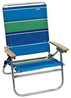 RIO Beach 4 Position Easy In Easy Out Folding Beach Chair   Stripe