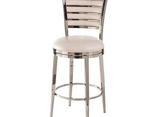 Hillsdale Rouen Swivel Bar Stool  30  Shiny Nickel