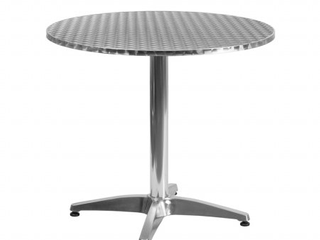 Flash Furniture Round Bistro Table  MISSING ROD THAT HOlDS TABlE TO BASE