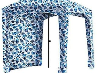 Qipi Beach Cabana   Easy to Set Up Canopy  Waterproof  Portable 6  x 6  Beach Shelter  Included Side Wall  Shade with UPF 50  UV Protection  Ultimate Sun Umbrella   for Kids  Family   Friends