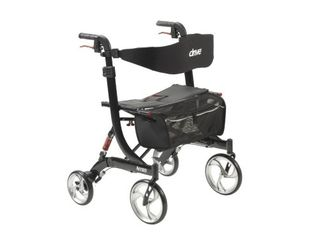 RollatorsBariatric Product Description  HD Nitro Rollator  Black  1 ea