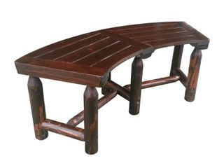 leigh Country TX 94017 Char log Curved Bench