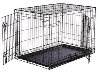 AmazonBasics Double Door Folding Metal Dog Crate   Medium  36x23x25 Inches
