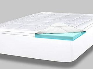 ViscoSoft 4   Double layer Gel Memory Foam Mattress  Memory Foam  White  Blue