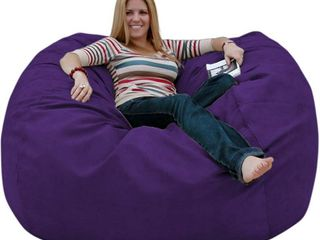 Cozy Sack large 5ft Pouf  Polycarbonate Plastic  Purple