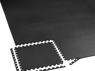 Innhom 12 24 Gymnastic Mat  Puzzle Foam Mats  Interlocking Foam Mats with EVA Foam Tiles for Gym Equipment Training  Black
