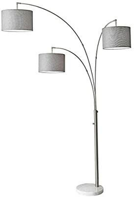 Adesso 4250 22 Bowery Arc 3 light Floor lamp  Steel  Smart Plug Compatible  83 Inch