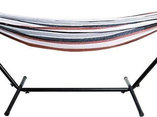 BalanceFrom Double Hammock with Space Saving Steel Stand  450 Pound Capacity