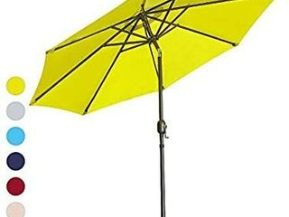 ISINO 9  Outdoor Patio Umbrella with Tilt Button and Crank   Green