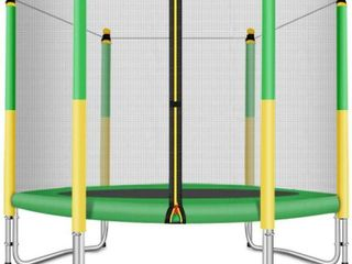 Fashionsport Outfitters Trampoline Enclosure for 5ft Trampoline  Yellow Green   ENClOSURE ONlY