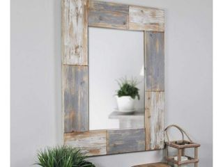 24  x 1  x 31 5  Mason Farmhouse Planks Mirror Aged White   FirsTime   Co