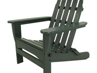 POlYWOOD AD5030GR Classic Folding Adirondack Chair  38 5  x 31 25  x 33 5  Green