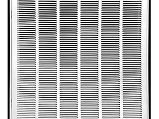 30  X 30  Steel Return Air Filter Grille for 1  Filter   Fixed Hinged   Ceiling Recommended   HVAC Duct Cover   Flat  Stamped Face   White  Outer Dimensions  32 5 X 31 75