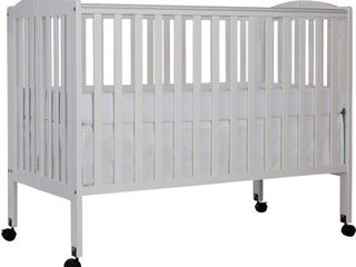 Dream On Me 2 in 1 Folding Full Size Crib White