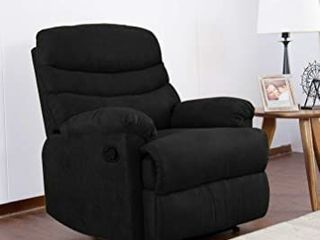 Kingway SF 1701 Recliner Sofa Chair  35  l x 40  D x 40  H  Black