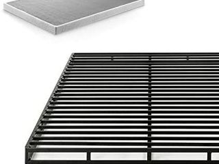 Zinus Victor 4 Inch Quick lock Box Spring   Mattress Foundation   Built to last Metal Structure   low Profile   Easy Assembly  King
