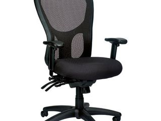 Eurotech Seating Apollo High Back Chair with Seat Slider  Black   MISSING THE WHEElS