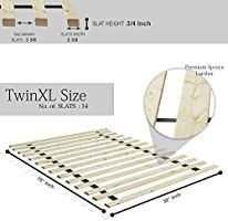 Onetan 0 75 inch Standard Mattress Support Wooden Bunkie Board   Slats    Twin Xl